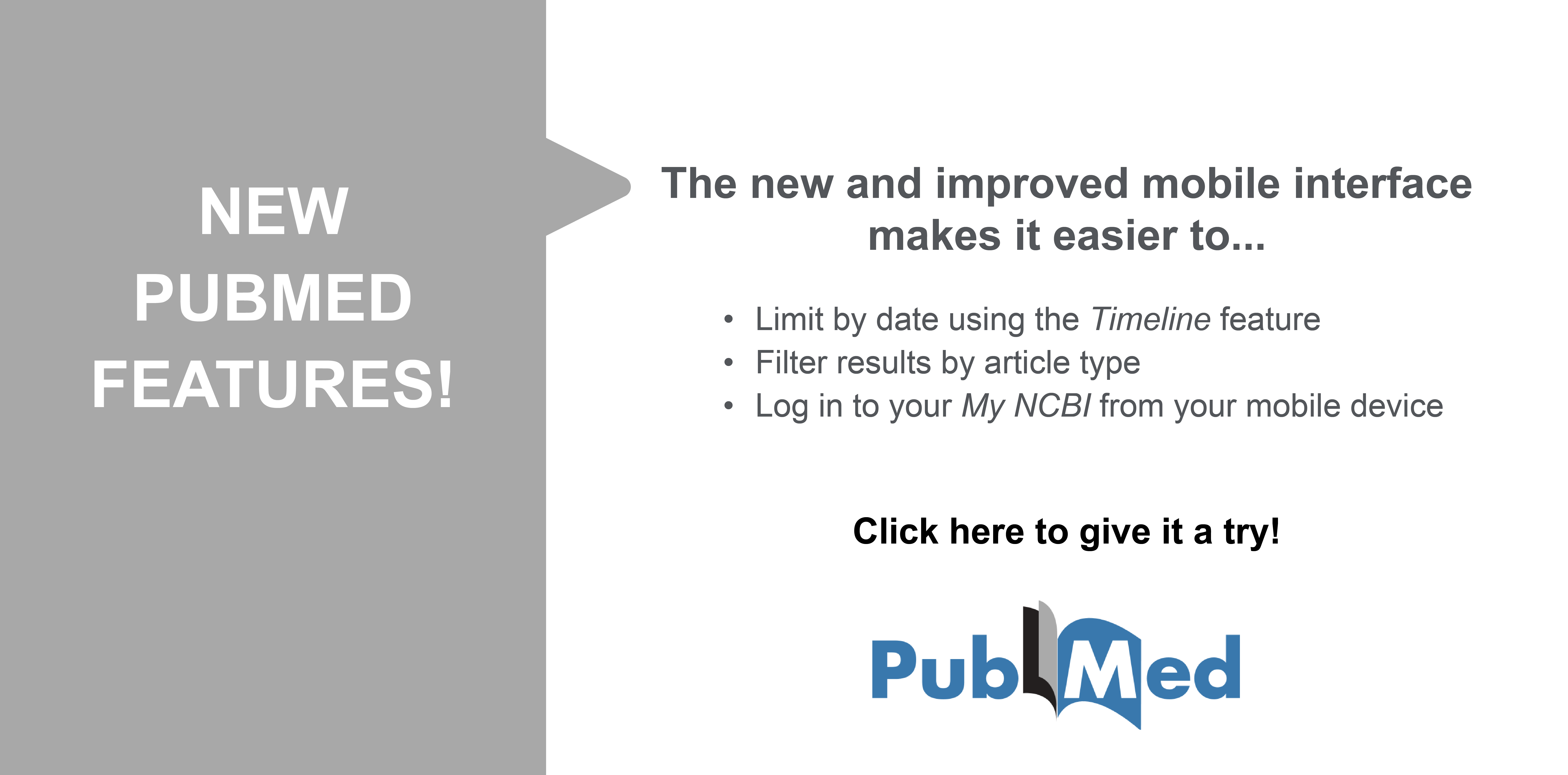 Try out the new PubMed, which has several mobile-friendly features