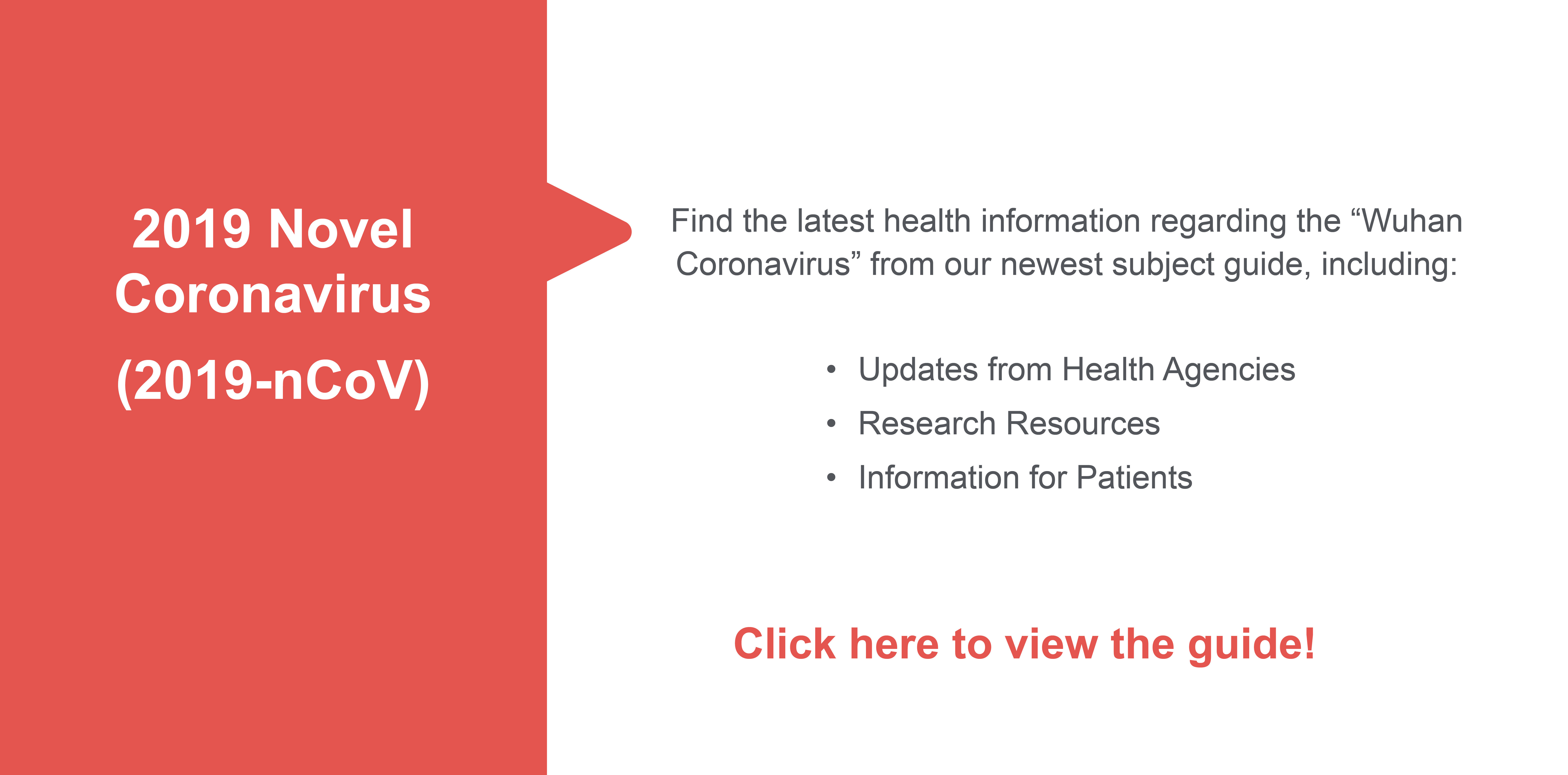 Link to information about coronavirus